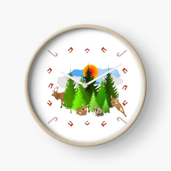 The Candy Cane Forest  Clock