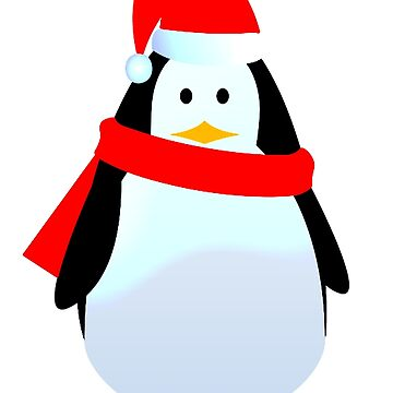 Father Christmas Penguin. by TOMSREDBUBBLE