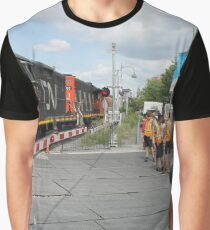 #Train, #railway, #railroad, #locomotive, #station, #transportation, #transport, #rail, #travel, #track, #engine, #diesel, #red, #platform, #old, #steam, #traffic Graphic T-Shirt