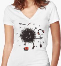 Relax Lazy Creature Women's Fitted V-Neck T-Shirt
