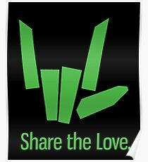 Share The Love Trending Apparel Poster