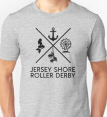 Jersey Shore Roller Derby Slim Fit T-Shirt