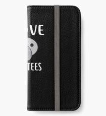 I Love MANATEES T-Shirt Funny MANATEE Tee iPhone Wallet/Case/Skin