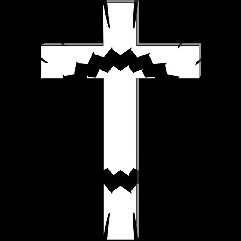 Black and white cross picture 1
