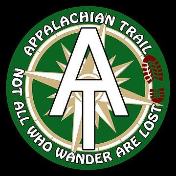 Appalachian Trail Sticker by ThreadsNouveau