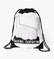 Ghost Giraffe, a cute original drawing by Derrick G. Wood Drawstring Bag