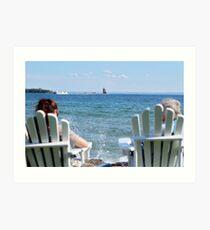 Lakeside Relaxation Art Print