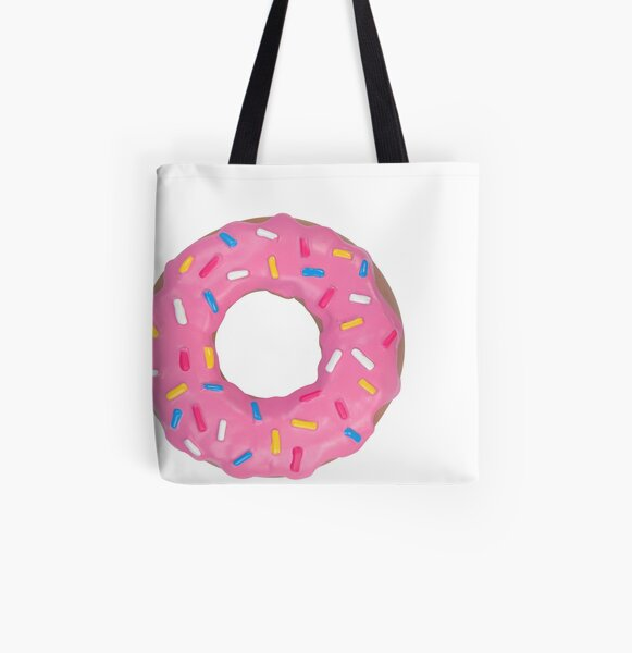 Yummy Strawberry Donut All Over Print Tote Bag