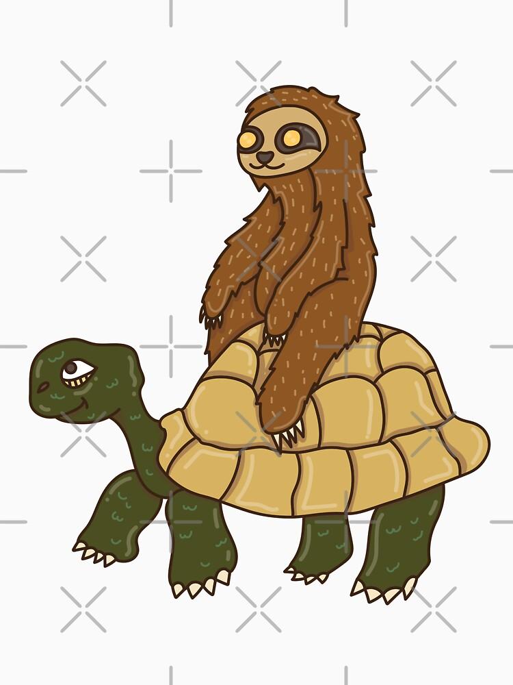 Sloth Riding Turtle by rkhy