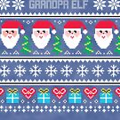 Grandpa Elf Ugly Christmas Sweater by CreatedTees