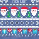 Nice List Ugly Christmas Sweater by CreatedTees