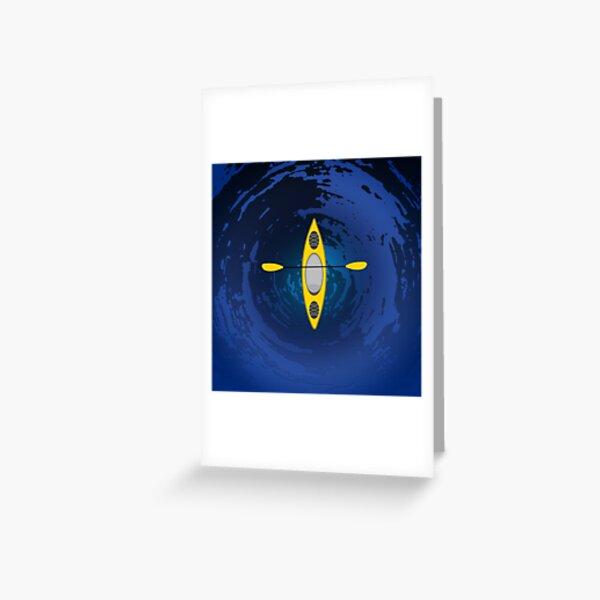 Kayaking (Yellow) Greeting Card