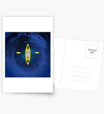 Kayaking (Yellow) Postcards