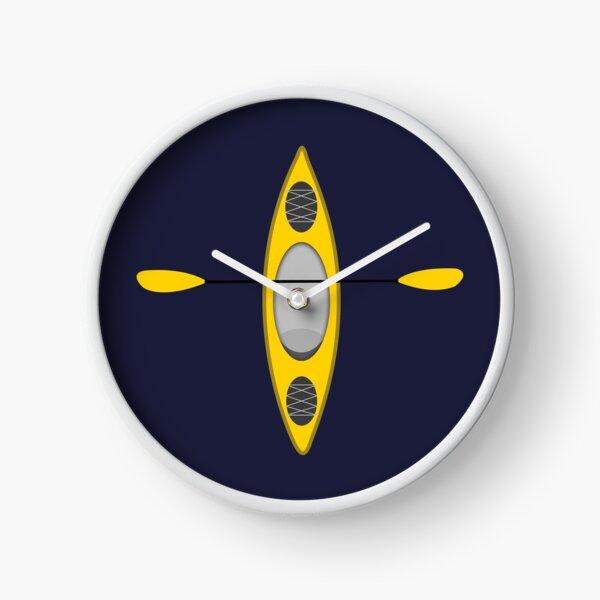 Kayaking (Yellow) Clock