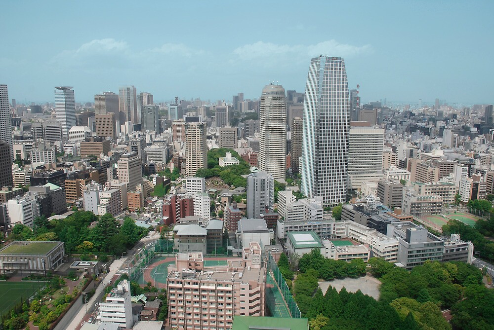 An Aerial View of Tokyo  by jojobob