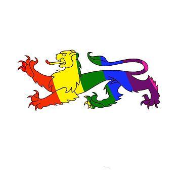 The Rainbow Lion by trudywinn