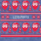 Let's Party Christmas Sweater by CreatedTees