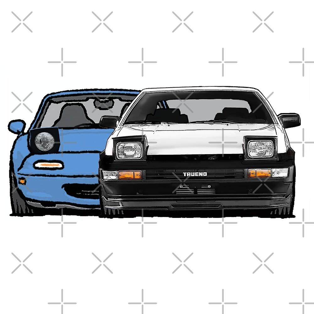 MX5 Miata vs AE86 by Woreth