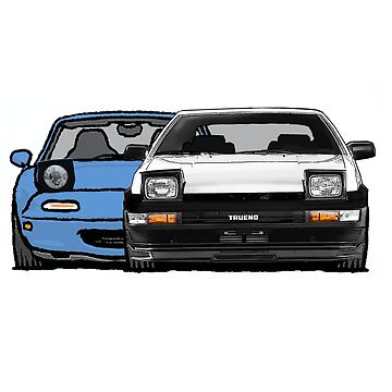 MX5 Miata vs AE86 by Woreth