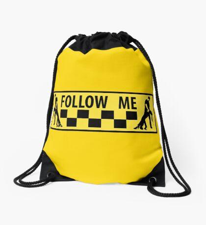 follow me dancer Drawstring Bag