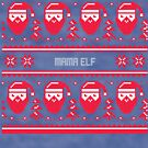 Mama Elf Christmas Sweater by CreatedTees