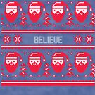 Believe Christmas Sweater by CreatedTees