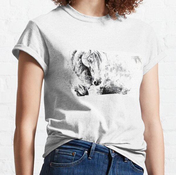 "Cheval ""Blanc rayonnant"" T-shirt classique"
