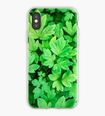 Green Leaves Nature Abstract iPhone Case