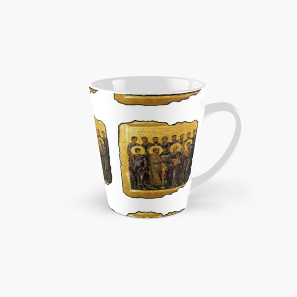 Twelve Disciples, Synaxis, Christianity, Twelve Apostles, Russian, 14th century, Moscow Museum. On White. Tall Mug