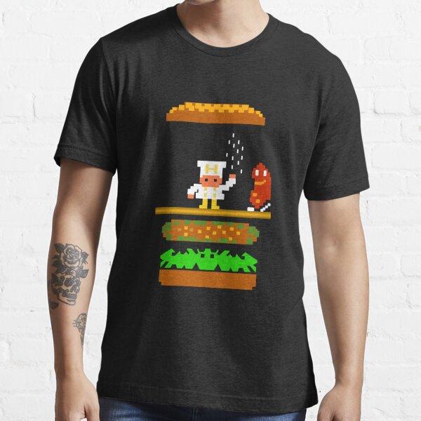 Burger Time Retro 80's Arcade Game design Essential T-Shirt