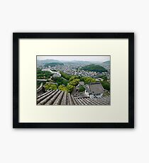 Roof View at Himeji Castle  Framed Print