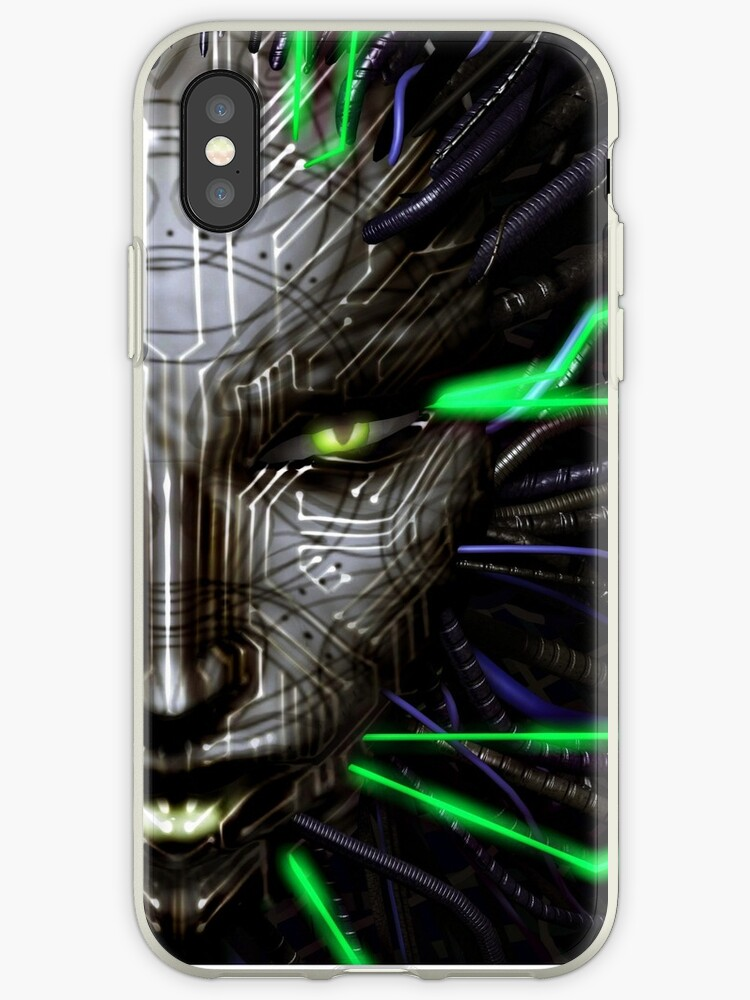 'SHODAN - System Shock' iPhone Case by Phantoma