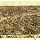Aerial View of Des Moines, Iowa (1868) by allhistory