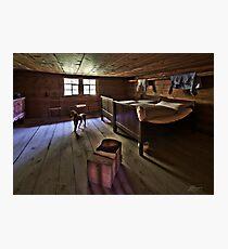 Rustic bedroom Photographic Print