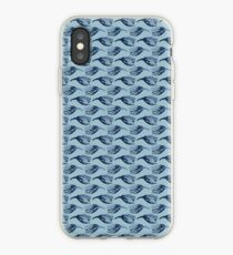 Soft Feather Stripes Japanese Seamless Vector Pattern iPhone Case