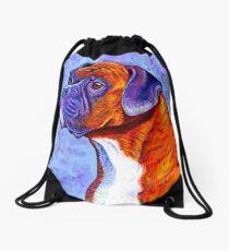 Colorful Brindle Boxer Dog Drawstring Bag