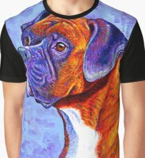 Colorful Brindle Boxer Dog Graphic T-Shirt