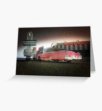american diner caddy Greeting Card