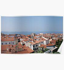 Piran Rooftops  Poster