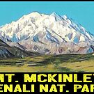 Mount McKinley Denali National Park Alaska Vintage Style Travel by MyHandmadeSigns