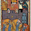 German Medieval Siege Battle Scene by edsimoneit