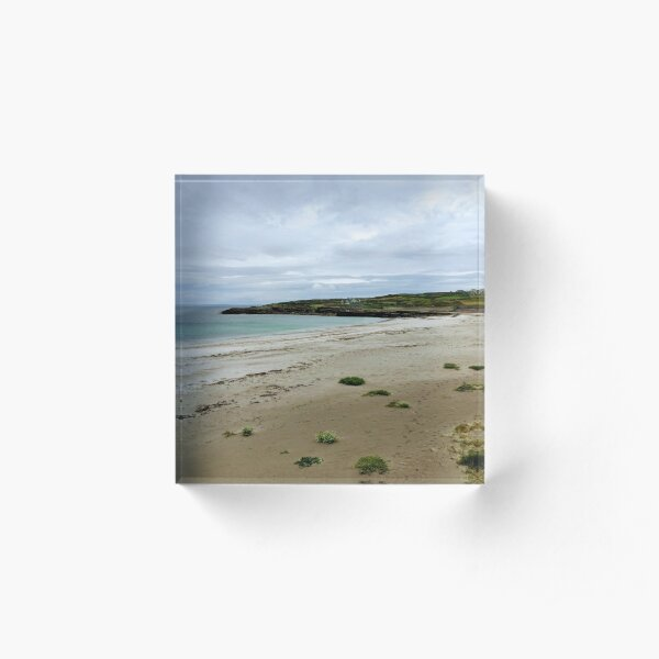 Secluded beach on Inishmore in Co. Galway Acrylic Block
