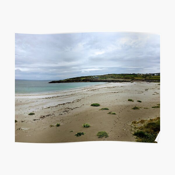 Secluded beach on Inishmore in Co. Galway Poster