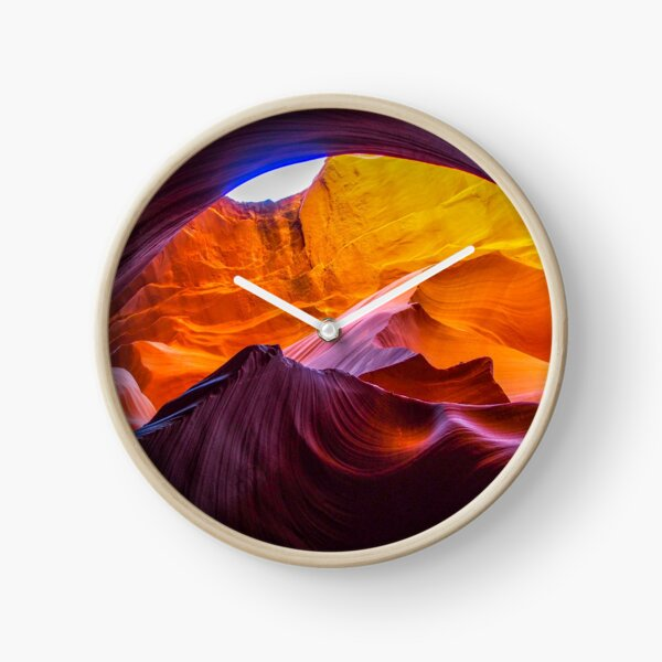 Colorful Arch in Antelope Canyon Clock
