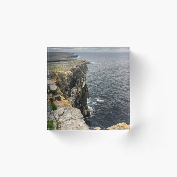 Cliffs on Inishmore, Co. Galway Acrylic Block