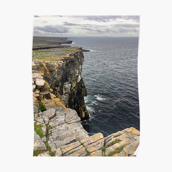 Cliffs on Inishmore, Co. Galway Poster