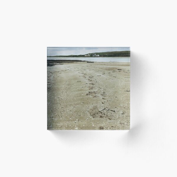 Quiet secluded beach on Inishmore, Co. Galway Acrylic Block