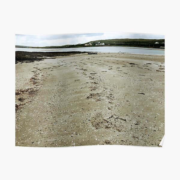 Quiet secluded beach on Inishmore, Co. Galway Poster