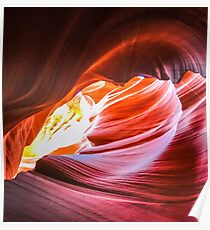 View in Antelope Canyon Poster