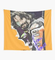 Keanu Reeves - Racing Game (by ACCI) Wall Tapestry
